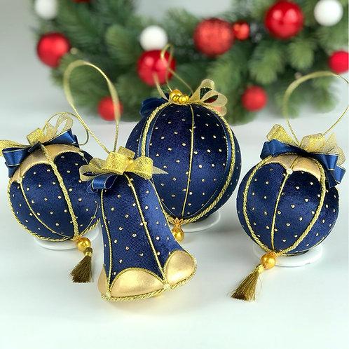 Набор новогодних игрушек «Зимняя ночь»