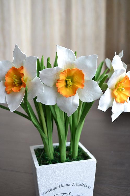 Нарциссы искусственные белые