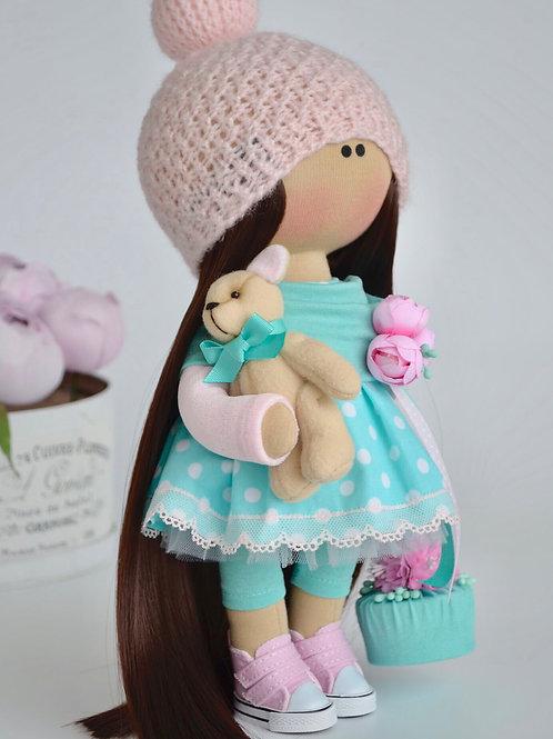 Интерьерная текстильная кукла Kristal