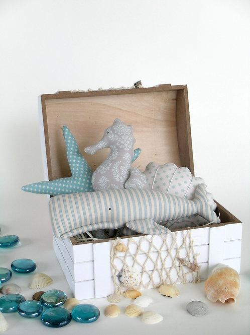 Набор текстильных игрушек в виде морских обитателей