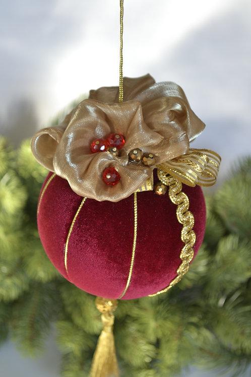 Подарочный шар красный/золото