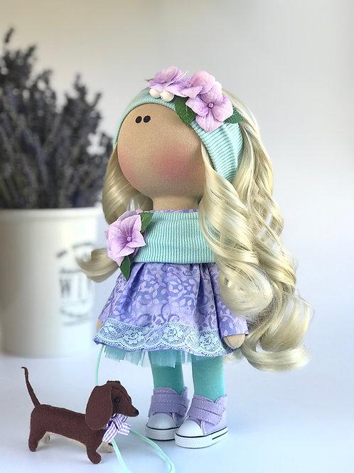 Интерьерная текстильная кукла Mandy