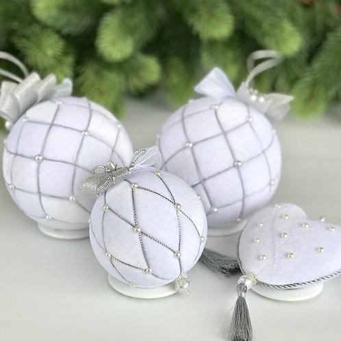 Подарочный набор ёлочных шаров «Снежная королева»