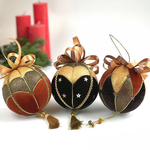 Набор новогодних шаров «Карамель»