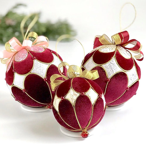 Подарочный набор елочных шаров «Версаль»