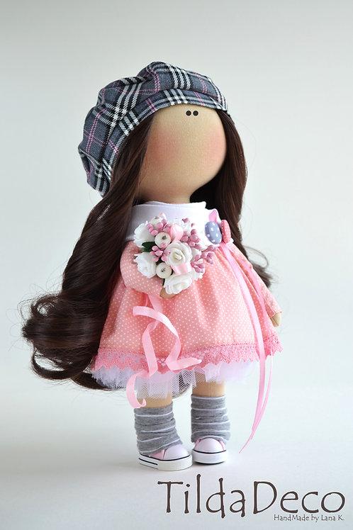 Интерьерная текстильная кукла Zoe