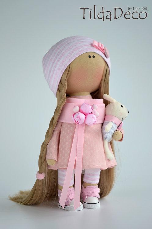 Интерьерная текстильная кукла Polly