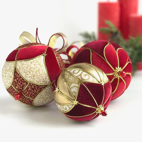 """Набор новогодних шаров  """"Рождественский пунш"""""""