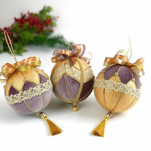 Набор новогодних шаров «Звездная пыль»