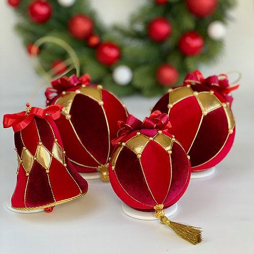 Набор елочных шаров «Верона» (красный)