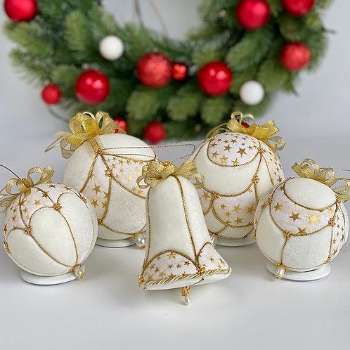 Набор ёлочных шаров  «Брызги шампанского»