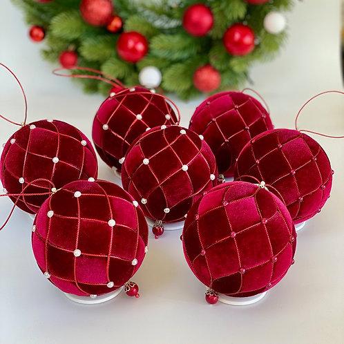 Набор елочных шаров «Калина красная»