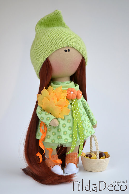 Интерьерная текстильная кукла  Olivia