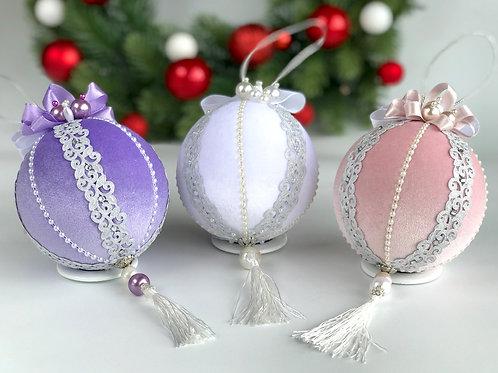 Набор ёлочных шаров  «Морозное кружево»