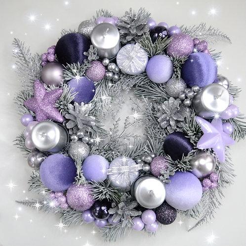Рождественский адвент венок «Лиловый иней»