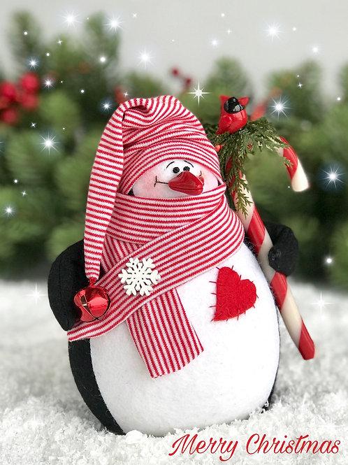 Игрушка пингвин из фетра