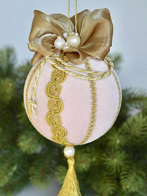 Подарочный шар розовый/золото