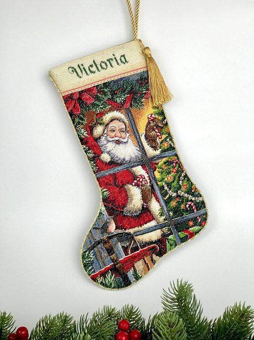 """Рождественский сапожок (носок) """"Candy Cane Santa"""""""
