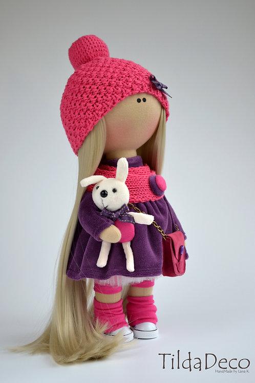 Интерьерная текстильная кукла Lily