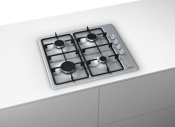 Bosch PBP6C5B60M Gas hob with integrated controls, brushed steel
