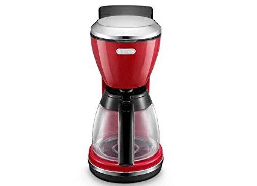 DeLonghi  Icona  Drip Coffee Machine 1.25 L, 1000 W, Red