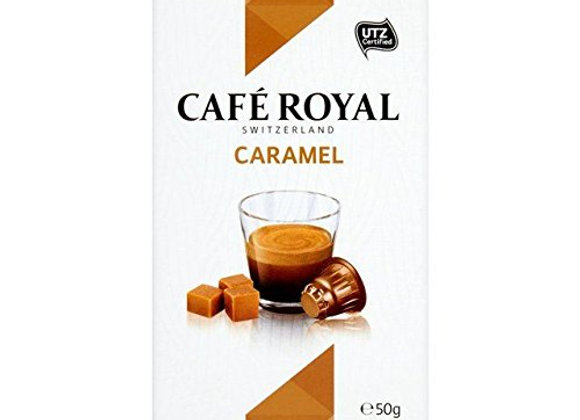 Cafe Royal Caramel Flavoured Nespresso Compatible Coffee Pods 10 per pack