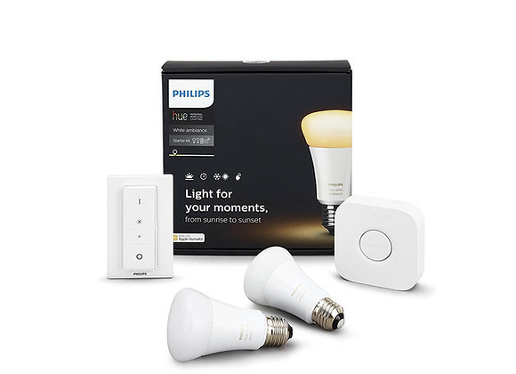 Philips Hue White Ambiance Personal Wireless Lighting LED E27 Starter Kit