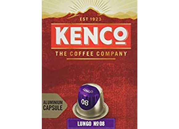 Kenco Lungo N.08 Intense - Intensity 8 - Nespresso Compatible Capsules 10 Pack
