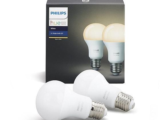 Philips Hue White Personal Wireless Lighting LED Bulbs, 2 x 9.5 W E27
