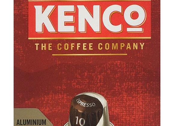 Kenco Espresso N.10 Rich - Intensity 10 - Nespresso Compatible Aluminium Coffee