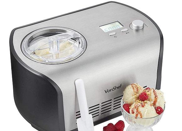VonShef Ice Cream Maker Machine with Compressor – 1.2L