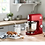 Thumbnail: Kenwood KMX750 kMix Stand Mixer with 1000W Power and 6 Speed Settings in Red