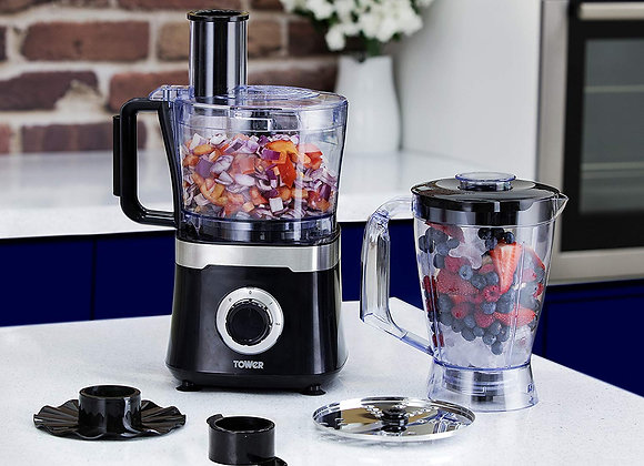 Tower T18004 Food Processor with 1.4 Litre Blender and 1.5 Litre Food Processor