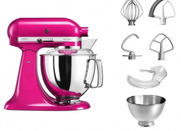 KitchenAid 4.8 Litre Artisan Stand Mixer 5KSM175PS (Raspberry Ice)