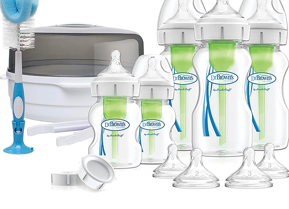 Dr Brown's Options+ Anti-Colic Baby Bottles Newborn Gift Set