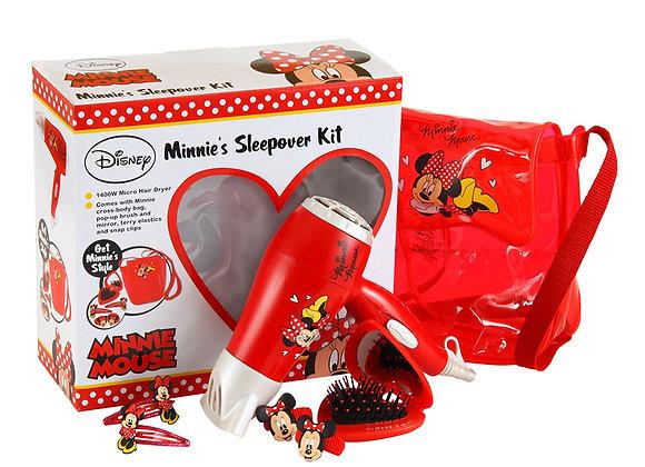 Disney Minnie Hair Dryer Sleepover Kit