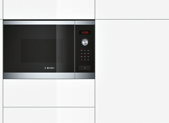 Bosch HMT84G654M Microwave oven with grill brushed steel