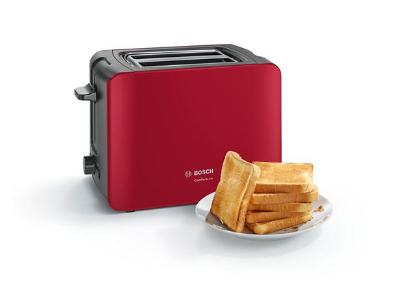 Bosch TAT6A114GB Comfort Line 2 Slice Toaster - Red