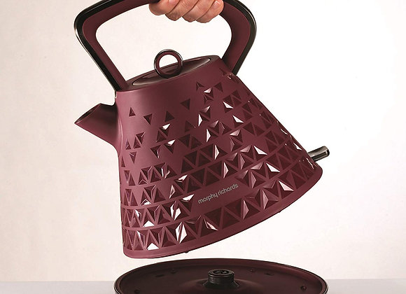 Morphy Richards Pyramid Kettle Prism 108103 Merlot Traditional Electric Kettle