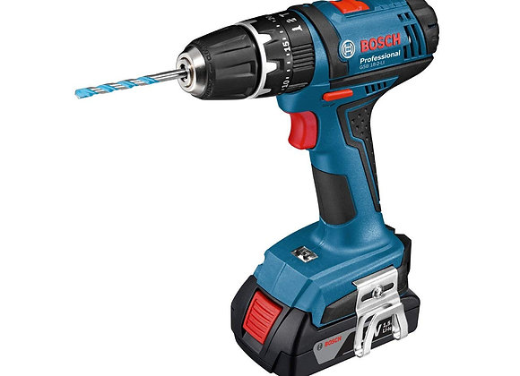Bosch Professional GSB 18-2-LI Cordless Combi Drill with Two 18 V Batteries