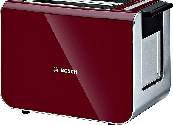 Bosch TAT86104GB Styline Collection Toaster, Two Slice - Red