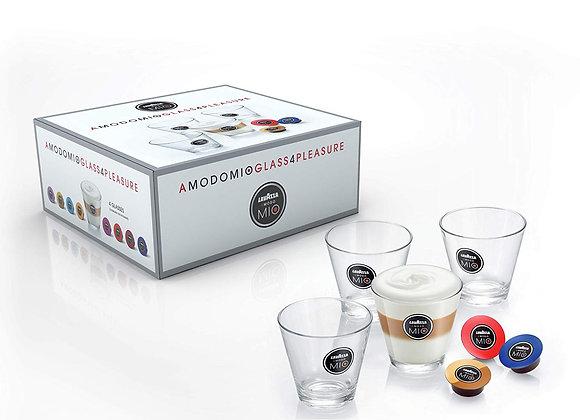 Lavazza A Modo Mio 20003259 Latte Macchiato Glasses 4-Pieces