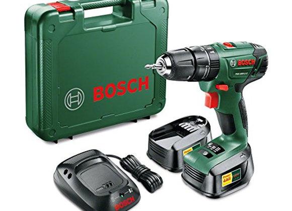 Bosch PSB 1800 LI-2 Cordless Combi Drill with 2 x 18 V Lithium-Ion Batteries