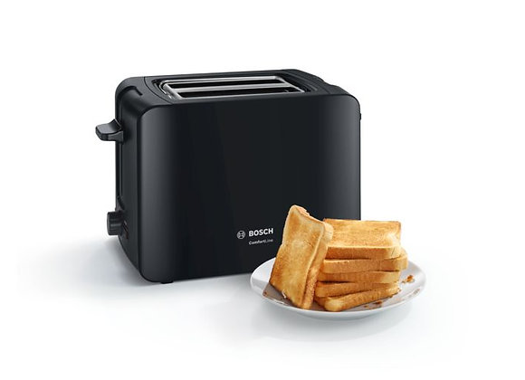 Bosch TAT6A113GB Comfort Line 2 Slice Toaster - Black
