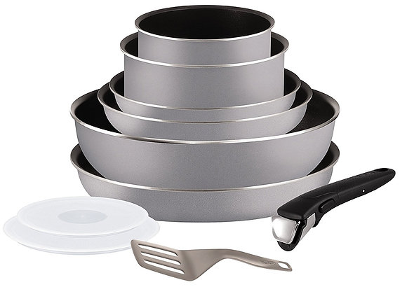 Tefal Ingenio 5 l2149602 Set of Frying Pans and Saucepans - Grey 10 pcs