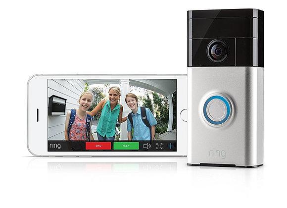Ring 88RG000FC01 Wi-Fi Enabled Video Doorbell - Satin Nickel
