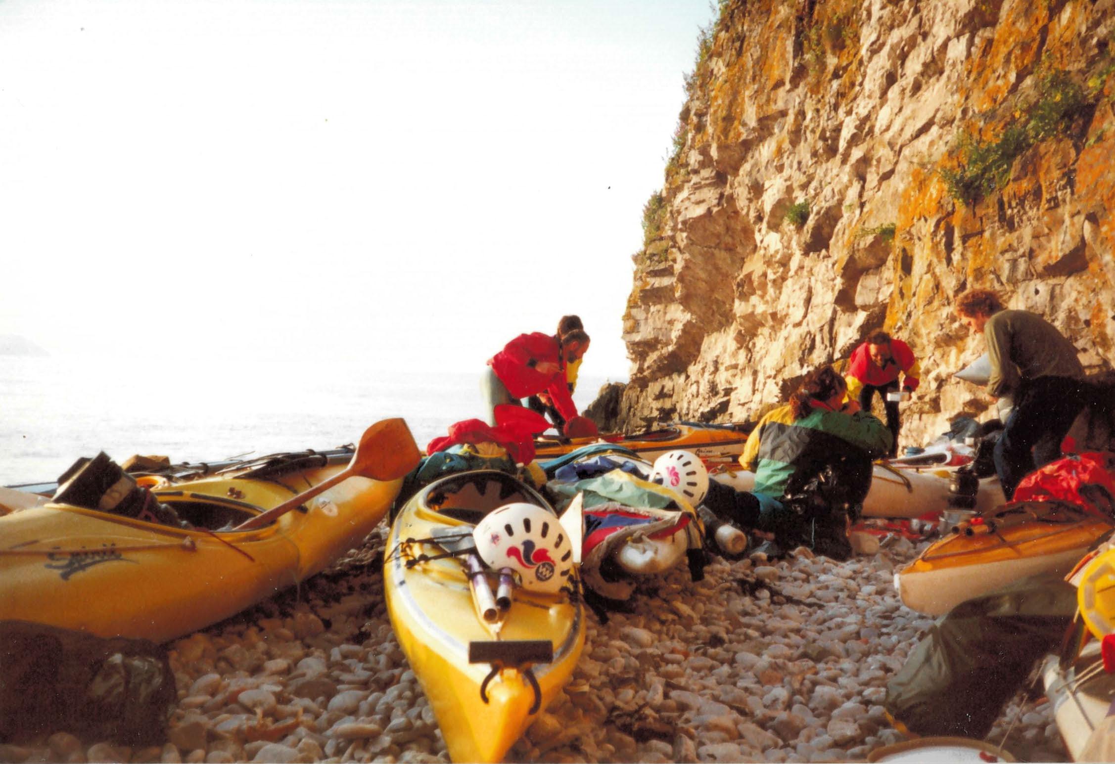Over nighting Sea Kayaking Steep Holms