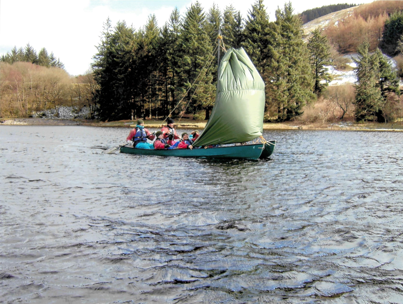 Sailing open boats brecon beacons