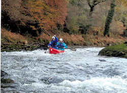 Canoeing on the Usk