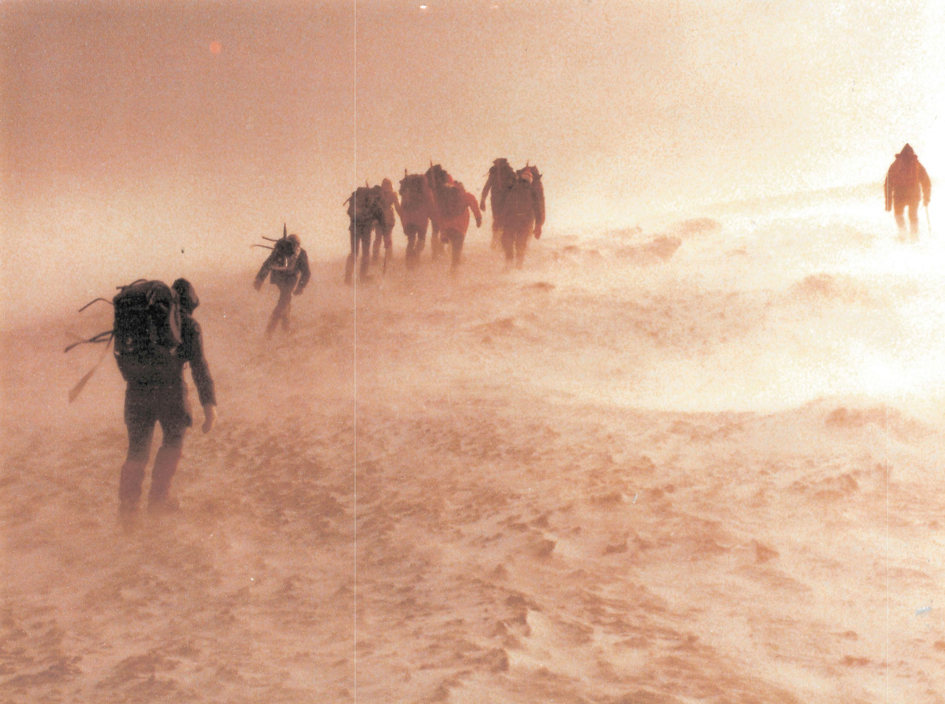 Nicaragua Descent in bad weather
